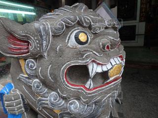 台湾の狛犬の写真・画像素材[1118367]