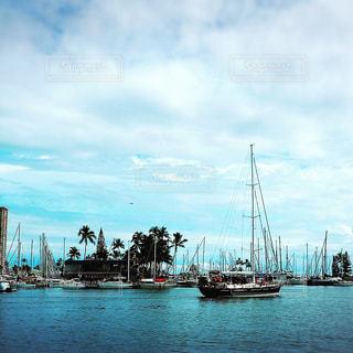 オアフの港の風景の写真・画像素材[1012854]