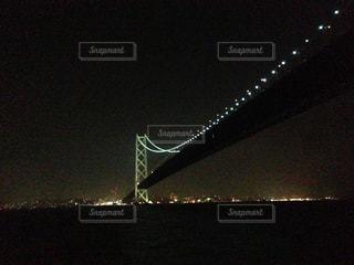夜の明石海峡大橋の写真・画像素材[849767]