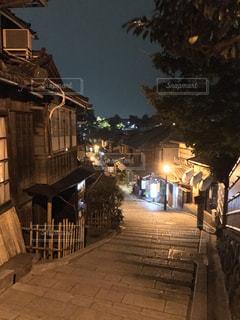 夜の京都  清水寺周辺の写真・画像素材[848375]