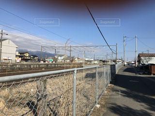 線路と青空の写真・画像素材[847762]