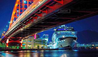 夜の神戸大橋の写真・画像素材[850449]