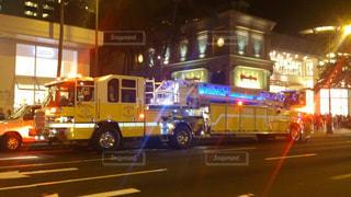 黄色い消防車の写真・画像素材[855044]