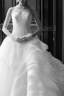 モノクロのウェディングドレス♡の写真・画像素材[852913]
