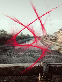 大きな赤い凧の写真・画像素材[850302]