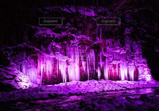 暗い部屋で紫色の光 - No.980207