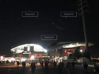 夜の大群衆の写真・画像素材[851116]