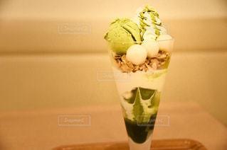 甘く美味しい抹茶パフェ♪の写真・画像素材[1528681]