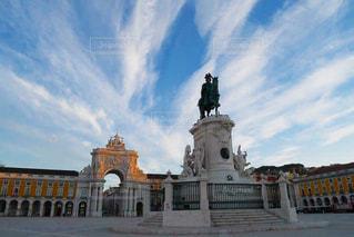 早朝のリスボンの写真・画像素材[2179489]