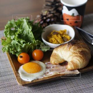 朝食プレートの写真・画像素材[1599547]