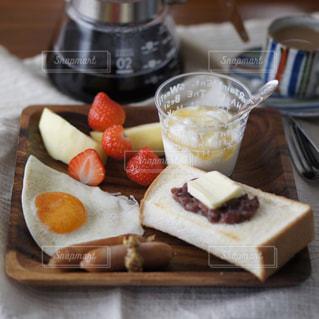 あんバタートーストの写真・画像素材[1781001]