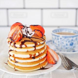 パンケーキの朝食の写真・画像素材[2935375]