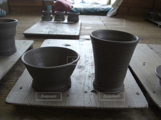 陶器製のグラス&茶碗 - No.853739
