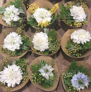 白い花のミニブーケを見つけましたの写真・画像素材[996527]