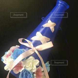 青と白のケーキの写真・画像素材[1242078]