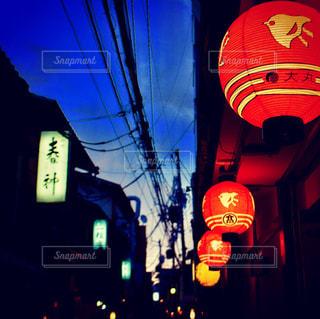 先斗町の夜の写真・画像素材[854100]