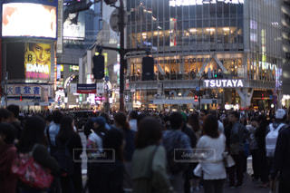 渋谷の人混みの写真・画像素材[1519546]