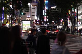 夜の渋谷の写真・画像素材[1519627]