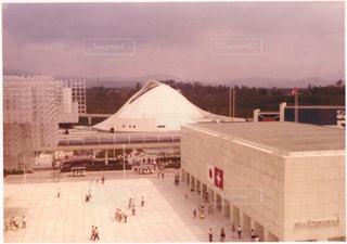 レインボーロープウェイからスイス館を望む  大阪万博の写真・画像素材[856550]