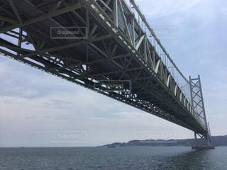世界最長の吊り橋、明石海峡大橋の写真・画像素材[858795]
