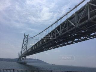 世界最長の吊り橋、明石海峡大橋の写真・画像素材[858796]