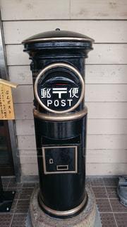 黒い郵便ポストの写真・画像素材[859791]