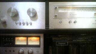 1970年代のテクニクスのシステムステレオの写真・画像素材[859827]