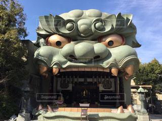 難波八阪神社の獅子頭です。の写真・画像素材[1031955]