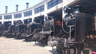京都鉄道博物館の蒸気機関車の写真・画像素材[1034512]