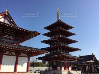 四天王寺の五重塔の写真・画像素材[1034537]