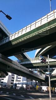 複層に立体交差する阿波座ジャンクションの写真・画像素材[1034554]