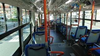 京都市バスの車内の写真・画像素材[1155599]