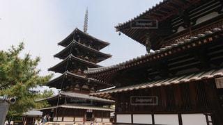 法隆寺の五重塔の写真・画像素材[1210177]