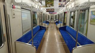 京都市営地下鉄の車内の写真・画像素材[1219172]