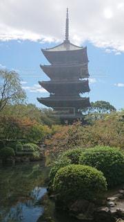 京都の東寺の五重塔の写真・画像素材[1725267]