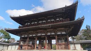 世界遺産の仁和寺の仁王門の写真・画像素材[1865030]
