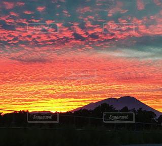 夕焼け空の写真・画像素材[863591]