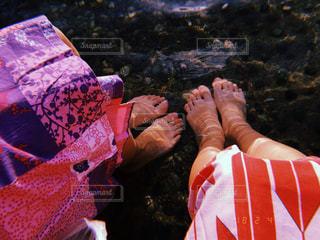 足湯の写真・画像素材[1025328]