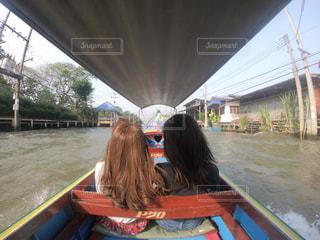 タイの水上マーケットの写真・画像素材[1068755]
