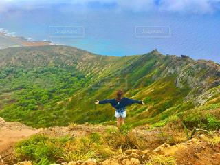 ハワイでハイキングの写真・画像素材[1662997]