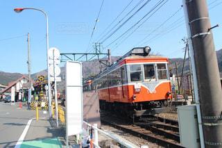 鋼のトラックの列車の写真・画像素材[1859429]