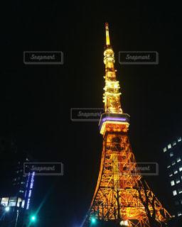 東京タワーの夜のライトアップの写真・画像素材[1012106]