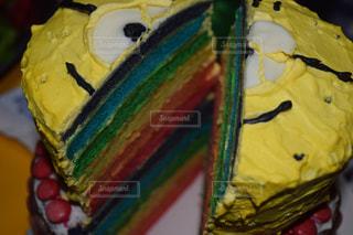 色彩豊かなケーキの写真・画像素材[859088]
