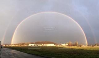二重虹の写真・画像素材[859426]
