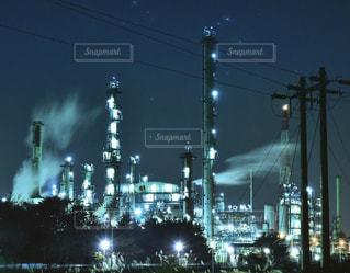 苫小牧 工場夜景の写真・画像素材[886157]