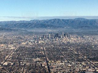 ロサンゼルス・ダウンタウンの空撮の写真・画像素材[859775]