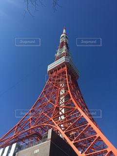 青空と東京タワーの写真・画像素材[859965]