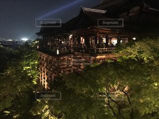 夜の清水寺ライトアップの写真・画像素材[861500]