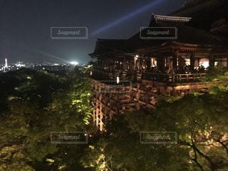 夜の清水寺ライトアップの写真・画像素材[861501]