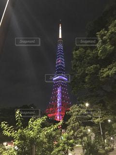 東京タワーは夜ライトアップの写真・画像素材[862938]